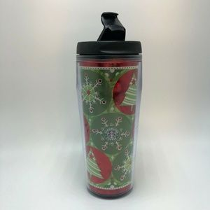 Starbucks Christmas Insulated Mug Trees Snowflakes